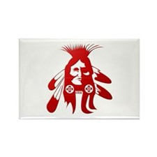 Native American Warrior #2 Rectangle Magnet (10 pa