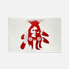 Native American Warrior #2 Rectangle Magnet