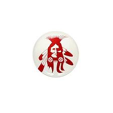 Native American Warrior #2 Mini Button