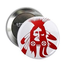 "Native American Warrior #2 2.25"" Button"