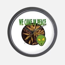 WE CAME IN PEACE Wall Clock
