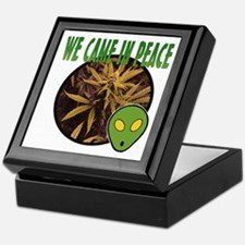 WE CAME IN PEACE Keepsake Box