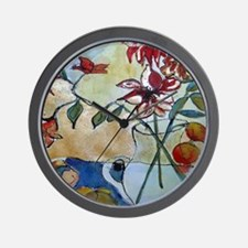 Gilded Lily Wall Clock