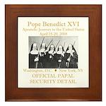 Papal Security Framed Tile