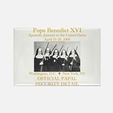 Papal Security Rectangle Magnet