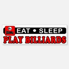 Play Billiards Bumper Bumper Sticker