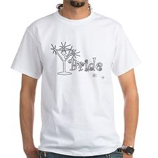 White Curly Martini Bride Shirt