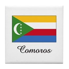 Comoros Flag Tile Coaster