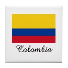 Colombia Flag Tile Coaster