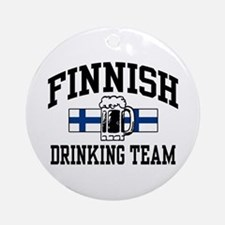 Finnish Drinking Team Ornament (Round)