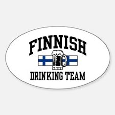 Finnish Drinking Team Oval Decal