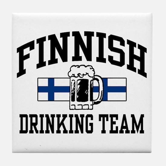 Finnish Drinking Team Tile Coaster