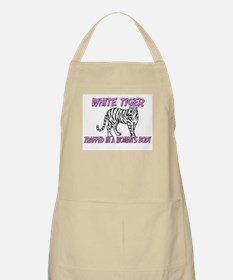 White Tiger Trapped In A Woman's Body BBQ Apron