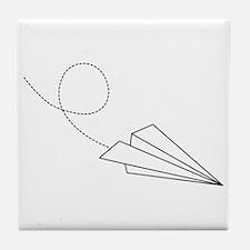 Paper Plane Tile Coaster