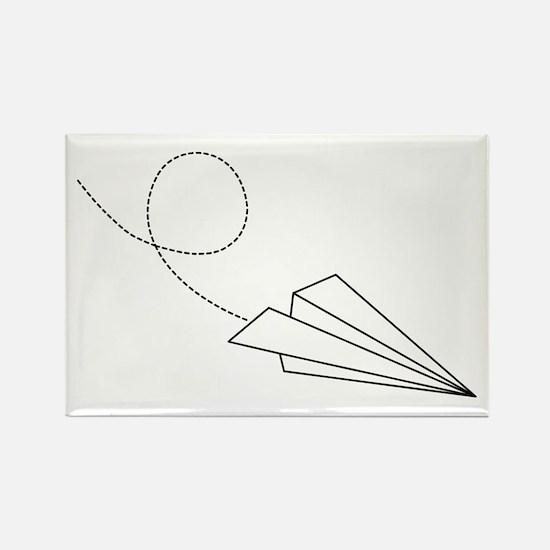 Paper Plane Rectangle Magnet