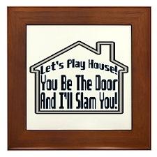 Let's Play House Framed Tile
