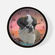 St. Bernard Pup Wall Clock