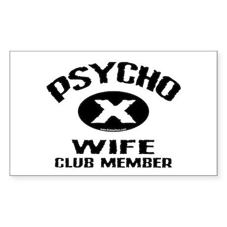 Psycho X Wife Rectangle Sticker 10 pk)