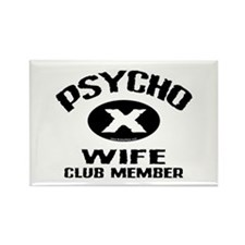 Psycho X Wife Rectangle Magnet (10 pack)