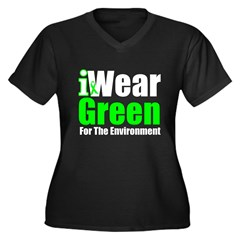 I Wear Green Environment Women's Plus Size V-Neck
