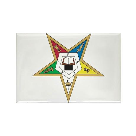 Eastern Star Rectangle Magnet (10 pack)