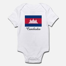 Cambodia Flag Infant Bodysuit
