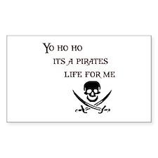 Yo Ho Ho Rectangle Sticker 50 pk)