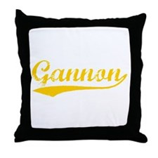 Vintage Gannon (Orange) Throw Pillow
