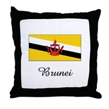 Brunei Flag Throw Pillow