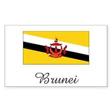 Brunei Flag Rectangle Decal