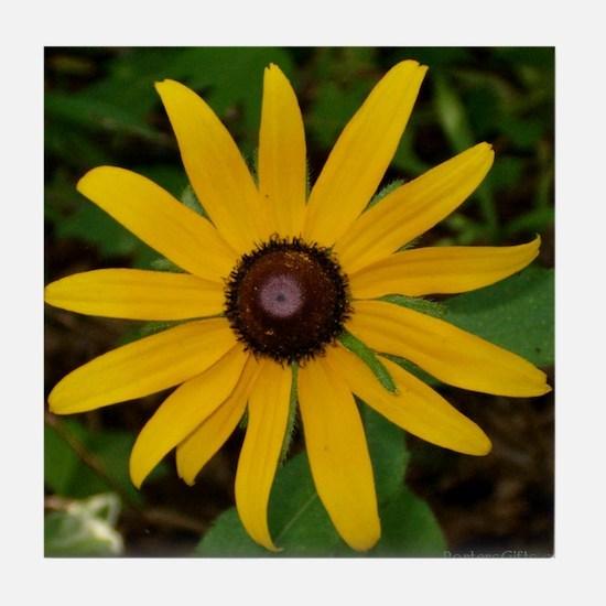 Black Eye Flower Tile Coaster