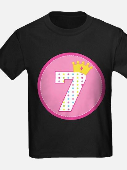 7th Birthday Princess Crown T-Shirt