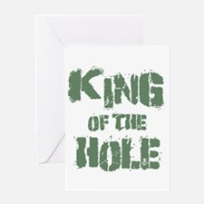King Of The Hole Greeting Card