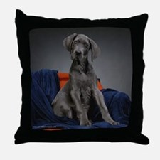 Cute Great danes Throw Pillow