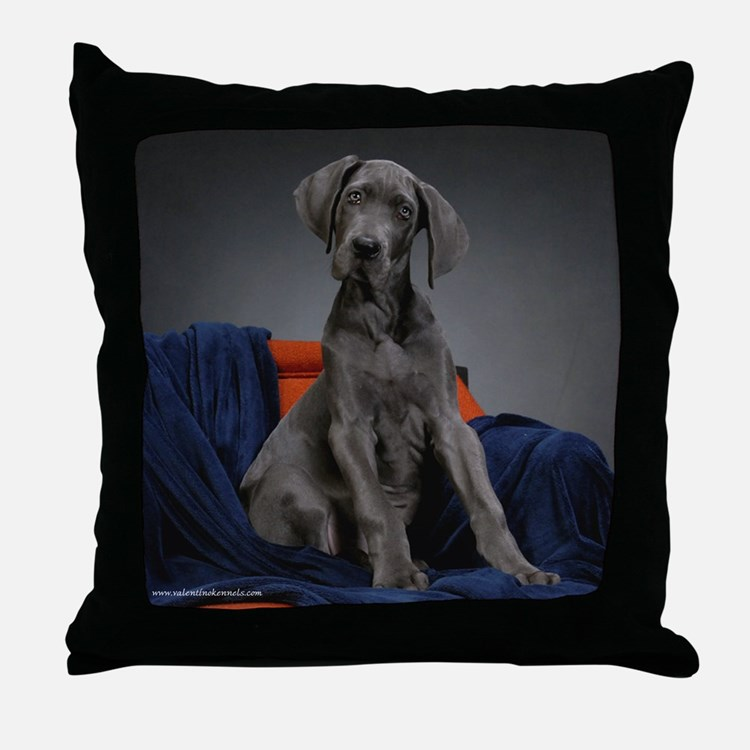 Cute Great danes Throw Pillow