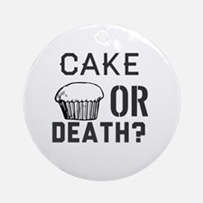 Unique Cake death Round Ornament