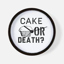 Cute Cake death Wall Clock