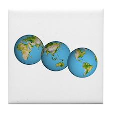 3 Globes Tile Coaster