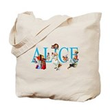 Alice in wonderland Canvas Totes
