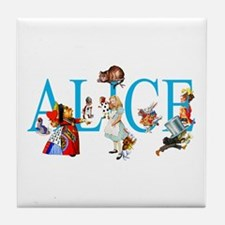 ALICE & FRIENDS IN WONDERLAND Tile Coaster