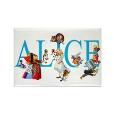 ALICE & FRIENDS IN WON Rectangle Magnet (100 pack)