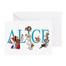 ALICE & FRIENDS IN WONDERLAND Greeting Card