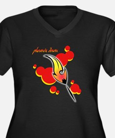Phoenix Down Women's Plus Size V-Neck Dark T-Shirt