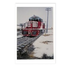 RAILROAD ART Postcards (Package of 8)