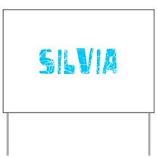 Silvia Faded (Blue) Yard Sign