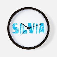 Silvia Faded (Blue) Wall Clock