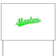 Retro Marlon (Green) Yard Sign