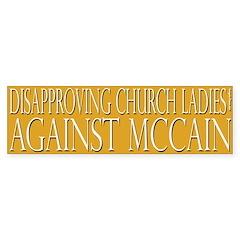 Disapproving Church Ladies Against McCain