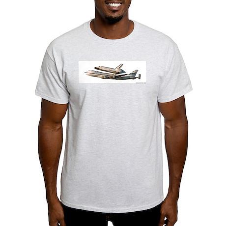 Space Shuttle Piggyback Ash Grey T-Shirt