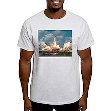 Space Shuttle Launch Ash Grey T-Shirt
